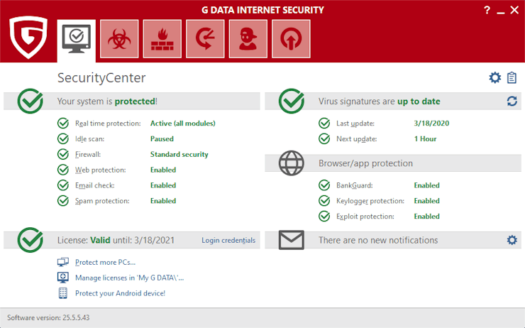 G DATA Internet Security 2021