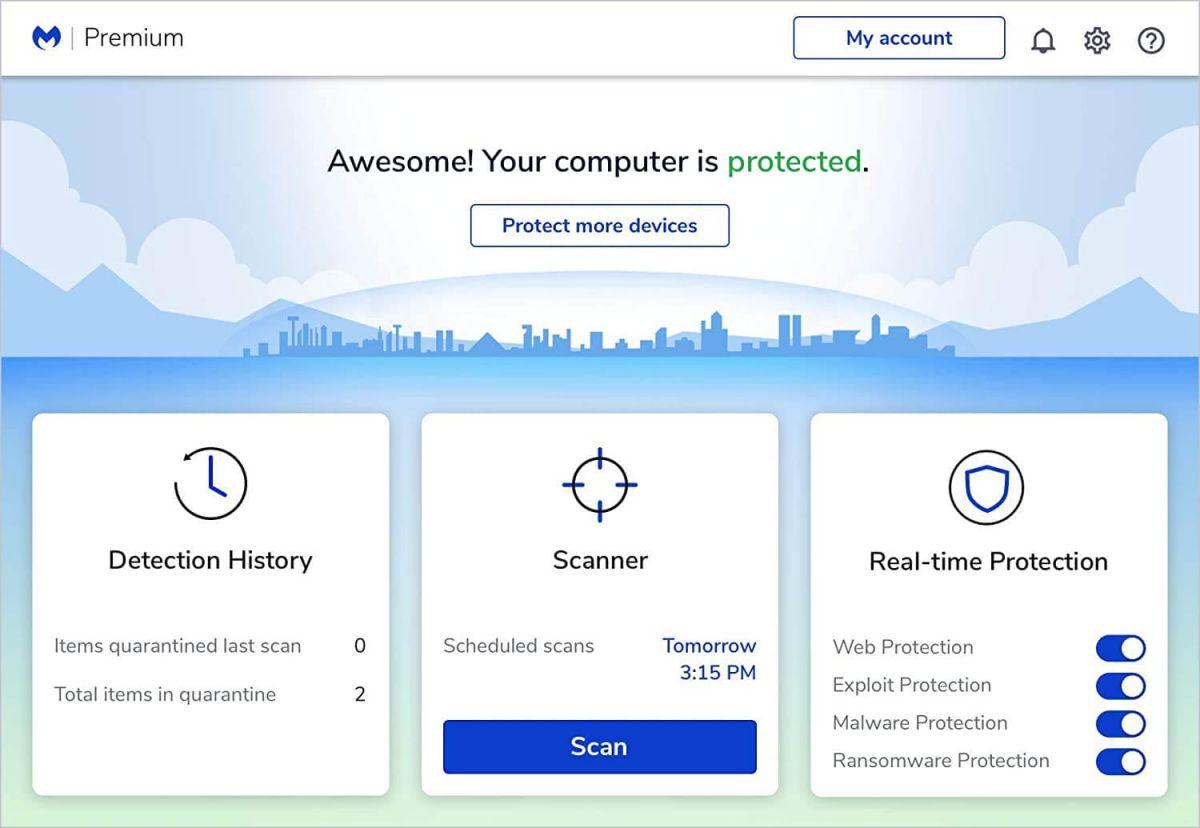 Malwarebytes Premium 2021 software